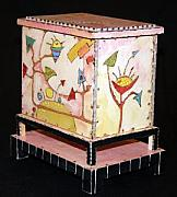 Hand Made Sculptures - Untitled Box Twenty One by B and David A Midlo