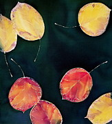 Yellow Leaves Tapestries - Textiles Posters - Untitled Poster by Carolyn Doe