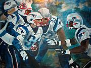Patriots Painting Originals - Untitled by Elisa Davis