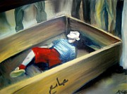 Casket Prints - Untitled  Print by Khalid Hussein