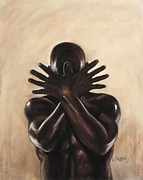 Black Man Pastels - Untitled by L Cooper