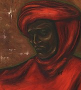 African-american Pastels - Untitled Man by Alga Washington