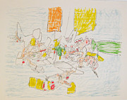 Matta Paintings - Untitled by Roberto Matta