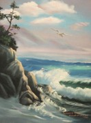 Leclair Prints - Untitled Seascape Print by Suzanne  Marie Leclair