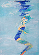Free Form Paintings - Untitled Swimmer by Lisa Baack