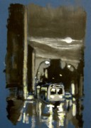 Night Scenes Painting Originals - Untitled Three by John Malone