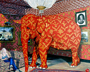 Elephant Painting Prints - Untitled Print by Tom Roderick