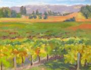 Diebenkorn Paintings - Untitled Vineyard No. 1 by Deborah Cushman