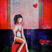 Figure Mixed Media - Unvealed and Beautiful by Johane Amirault