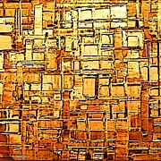 Digital Abstract Digital Art - Up Against A Brick Wall by Karen Conine
