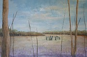 Henge Paintings - Up Among the Heather by Catherine JN Christopher