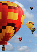 Hot Air Balloons Digital Art - Up and Away by Sharon Foster