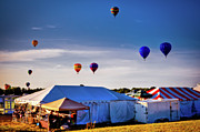 Balloon Fest Framed Prints - Up Framed Print by David Hahn