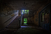 Haunted House Photos - Up into the light by Nathan Wright