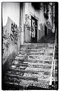 Graffiti Steps Prints - Up Print by John Rizzuto