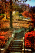 Stairs Digital Art - Up by Lois Bryan