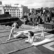 Mid Summer Framed Prints - Up On The Roof Framed Print by Bert Hardy