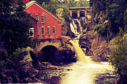 Mills Framed Prints - Up River at the Old Mill Framed Print by Carol Hathaway