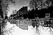 Canals Framed Prints - Up-Side-Down Reflection Framed Print by John Battaglino