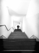 Up Stairs Print by Artecco Fine Art Photography - Photograph by Nadja Drieling