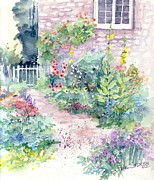 Picket Fence Originals - Up the garden path by Val Stokes