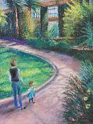 Figures Pastels - Up the Path by Laura McMillan