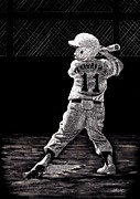 Little League Paintings - Up to Bat by Lynn Kibbe