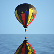 Balloon Digital Art Prints - Up Up and Away Print by Bill Cannon