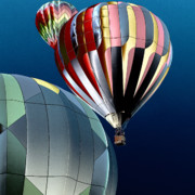 Hot Air Balloons Digital Art - Up Up and Away by David Patterson