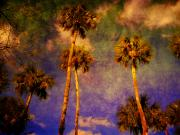 Abstract Palm Trees Prints - Up up to the sky Print by Susanne Van Hulst