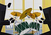Drums Paintings - UpBeat by Darryl Daniels