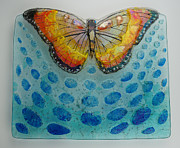 Insect Glass Art - Updraft by Michelle Rial
