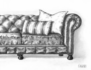 Pen And Ink Drawing Posters - Upholstered Poster by Adam Zebediah Joseph