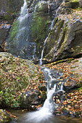 Scenic Drive Photo Posters - Upper Dark Hollow Falls in Shenandoah National Park Poster by Pierre Leclerc
