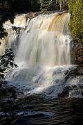 Notecard Prints - Upper Falls Gooseberry River 2 Print by Larry Ricker