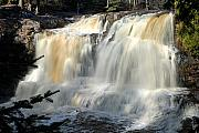 Gallery Wrap Prints - Upper Falls Gooseberry River Print by Larry Ricker