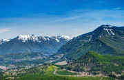 Open Area Prints - Upper Snoqualmie Valley and Cascades Print by Rich Leighton