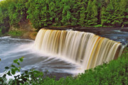 Michigan Waterfalls Prints - Upper Tahquamenon 6229 Print by Michael Peychich