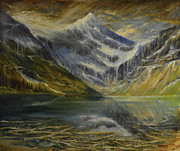 Corwin Paintings - Upper Two Medicine Lake by James Corwin