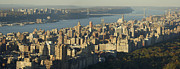 Birdseye Photo Metal Prints - Upper Westside Metal Print by Christian Heeb