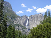 Waterfalls Photos - Upper Yosemite Falls II by Cyndi Combs