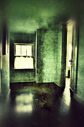 Haunted House Posters - Upstairs Hallway in Old House Poster by Jill Battaglia