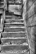 Wooden Stairs Prints - Upstairs  Print by JC Findley