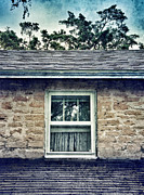Stone Roof Framed Prints - Upstairs Window in Stone House Framed Print by Jill Battaglia