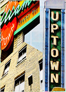 Uptown Digital Art Prints - Uptown Signs Print by Susan Stone