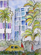 High Rise Paintings - Uptown by Suzanne Stofer