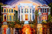 Neighborhoods Paintings - Uptown Tonight by Diane Millsap