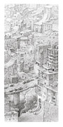 City Buildings Drawings Prints - Uptown Trail Print by Mathew Borrett