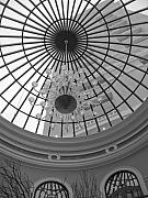 Chandelier Prints - Upward View Print by Bob Mintie