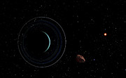 Puck Digital Art - Uranus And Most Of Its Nine Major Rings by Frank Hettick
